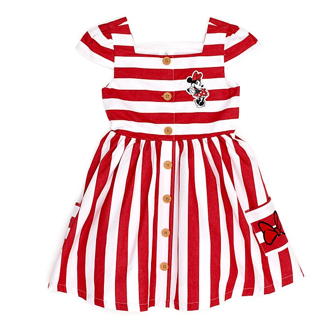 Disney Store Minnie Mouse Striped Dress For Kids