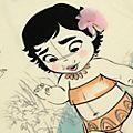 Camiseta infantil Vaiana, colección Disney Animators, Disney Store