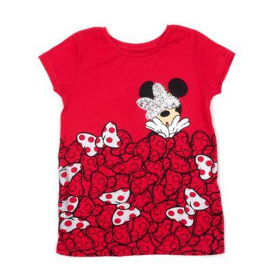 Disney M/ädchen Minnie Mouse T-Shirt schwarz