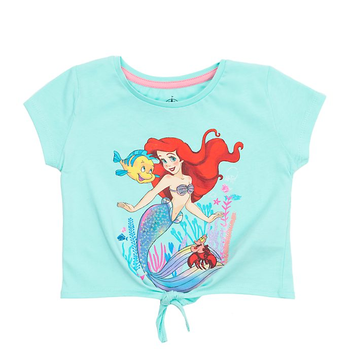 Disney Store - Arielle, die Meerjungfrau - T-Shirt mit Band zum Knoten für Kinder