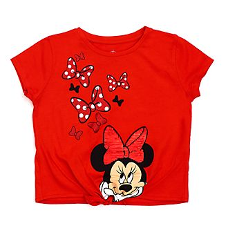 Disney Store Minnie Mouse Tie-Front T-Shirt For Kids