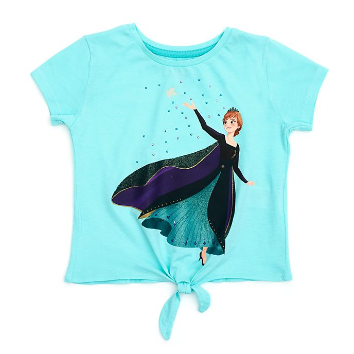 Disney Store Queen Anna Tie-Front T-Shirt For Kids, Frozen 2