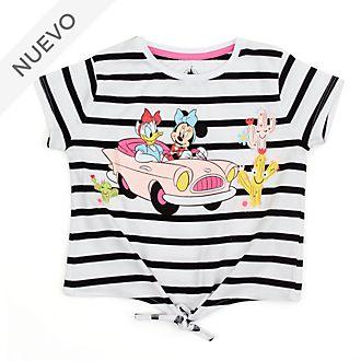 Camiseta con nudo delantero Minnie y Daisy para niña, Disney Store