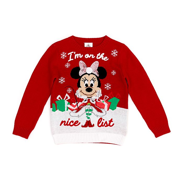 Disney Store Minnie Mouse Holiday Cheer Jumper For Kids
