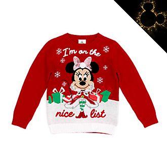 Disney Store - Holiday Cheer - Minnie Maus - Pullover für Kinder