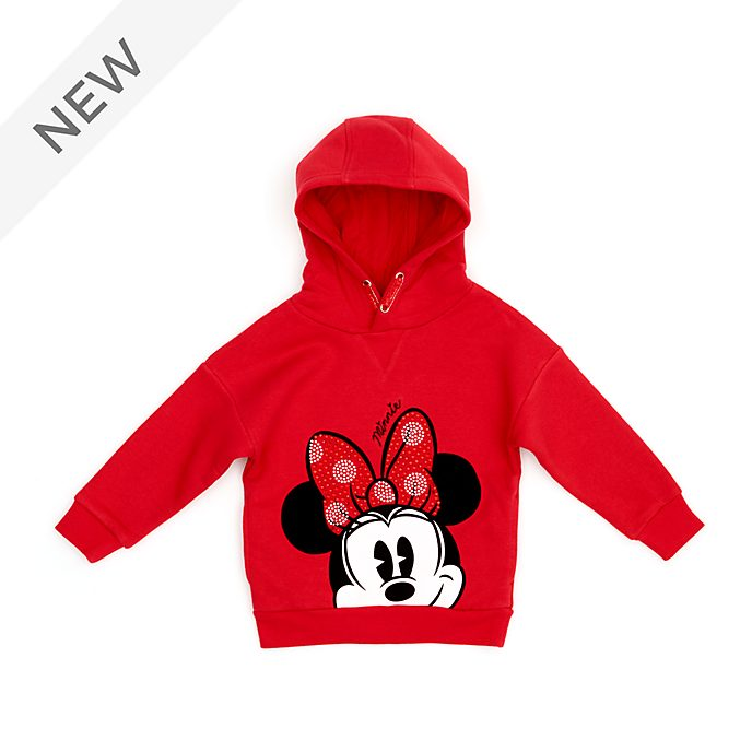 Disney Store Minnie Mouse Hooded Sweatshirt For Kids