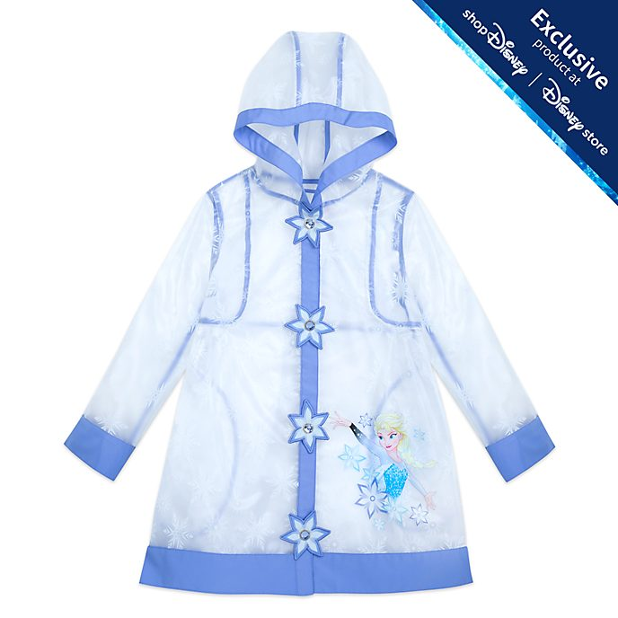 Disney Store Elsa Raincoat For Kids, Frozen 2