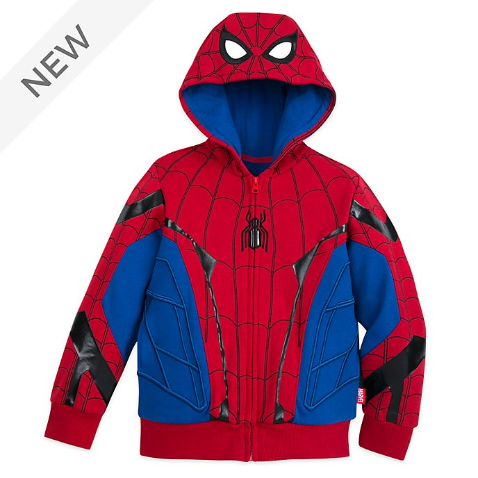 Disney Store Spider-Man Costume Hooded Sweatshirt For Kids