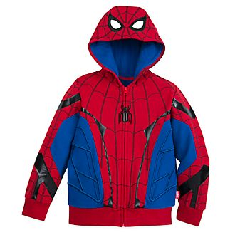 Disney Store Spider-Man Costume Hooded Sweatshirt For Kids