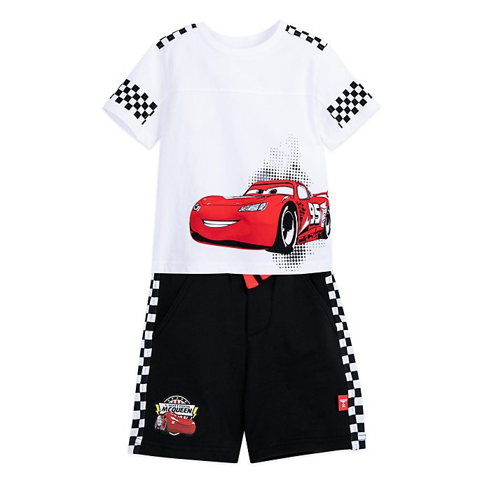 Disney Store Ensemble t-shirt et short Flash Mcqueen pour enfants