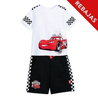 Conjunto infantil de camiseta y pantalones cortos Rayo McQueen, Disney Store