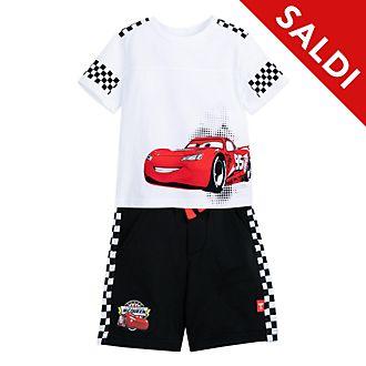 Completo maglia e pantaloncini bimbi Saetta McQueen Disney Store