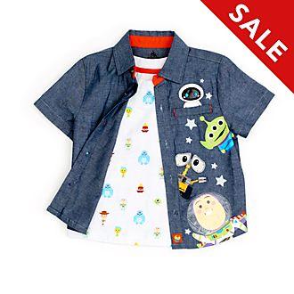 Disney Store World of Pixar T-Shirt and Shirt Set For Kids