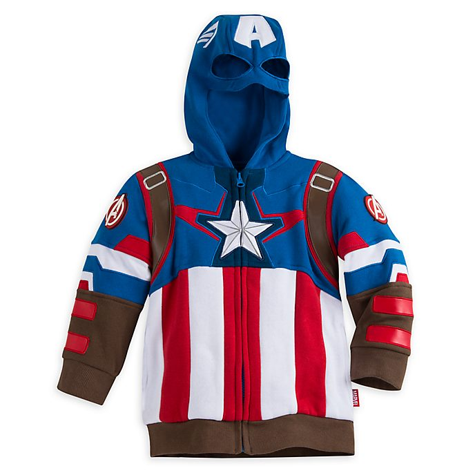 Sudadera con capucha disfraz infantil Capitán América, Disney Store