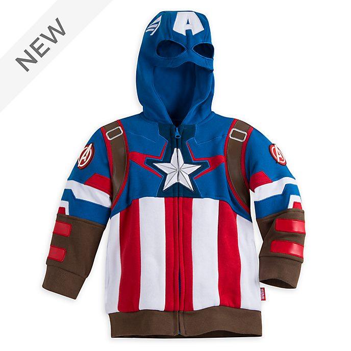 Disney Store Captain America Costume Hooded Sweatshirt For Kids