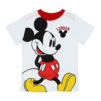 Disney Store - Micky Maus - Weißes London T-Shirt für Kinder