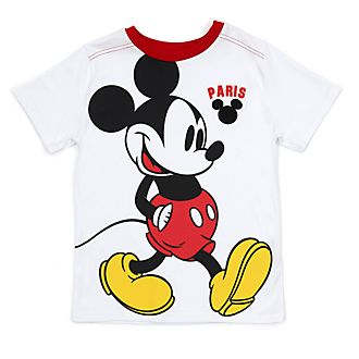 Disney Store Mickey Mouse Paris White T-Shirt For Kids