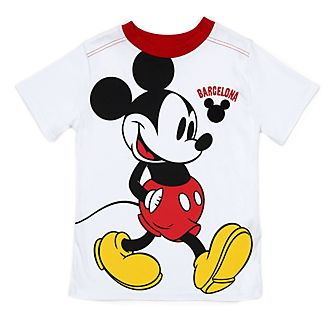 Disney Store - Micky Maus - Weißes Barcelona T-Shirt für Kinder