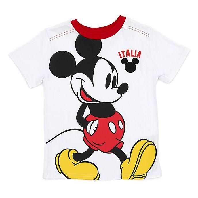 Disney Store - Micky Maus - Weißes Italia T-Shirt für Kinder
