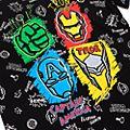 Disney Store T-shirt Avengers noir pour enfants