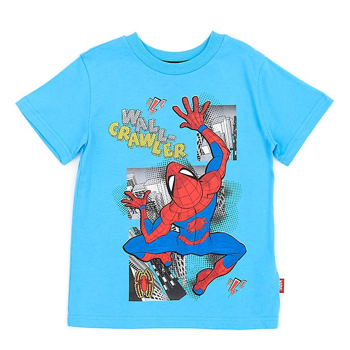 Disney Store Spider-Man Blue T-Shirt For Kids