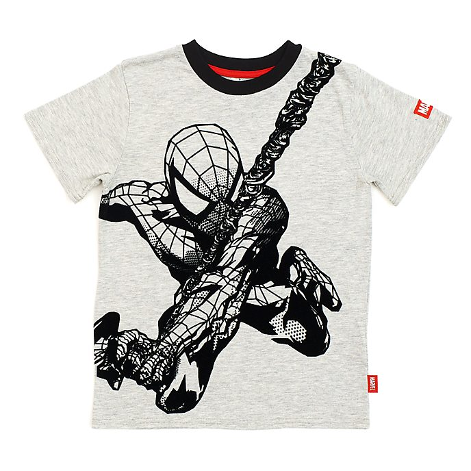 Disney Store Spider-Man Grey T-Shirt For Kids
