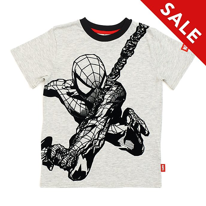 Disney Store Spider-Man Grey T-Shirt For Kids