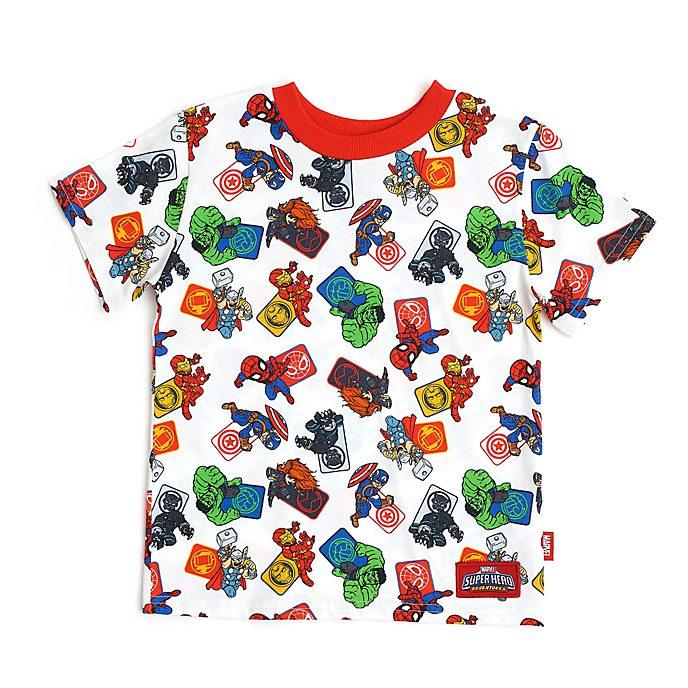 Camiseta infantil blanca Los Vengadores, Disney Store