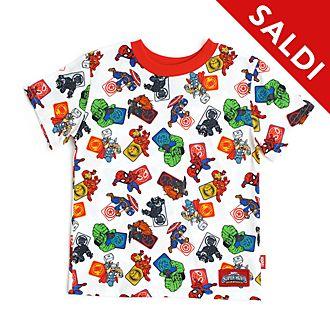 Maglietta bimbi Avengers bianca Disney Store