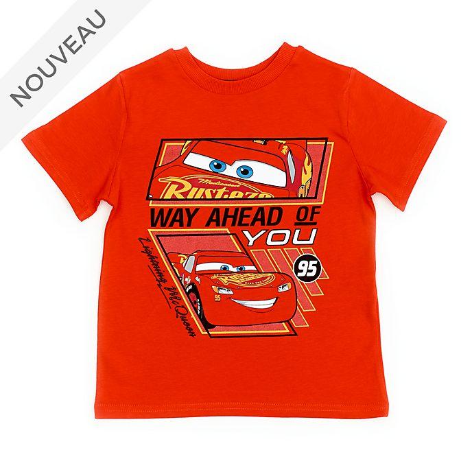 Disney Store T-shirt Flash McQueen rouge pour enfants