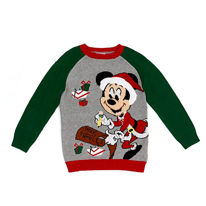 Disney Store Pull de Noël Mickey pour enfants, Holiday Cheer