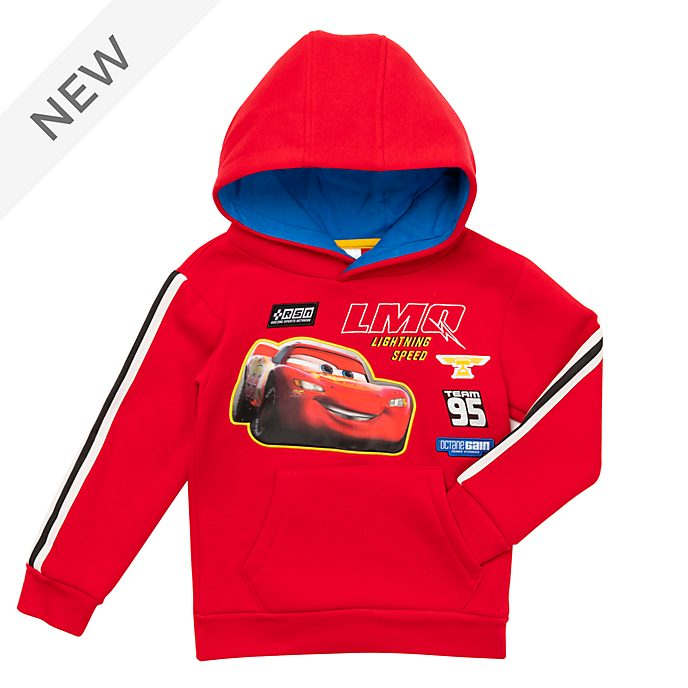 Disney Store Lightning McQueen Hooded Sweatshirt For Kids
