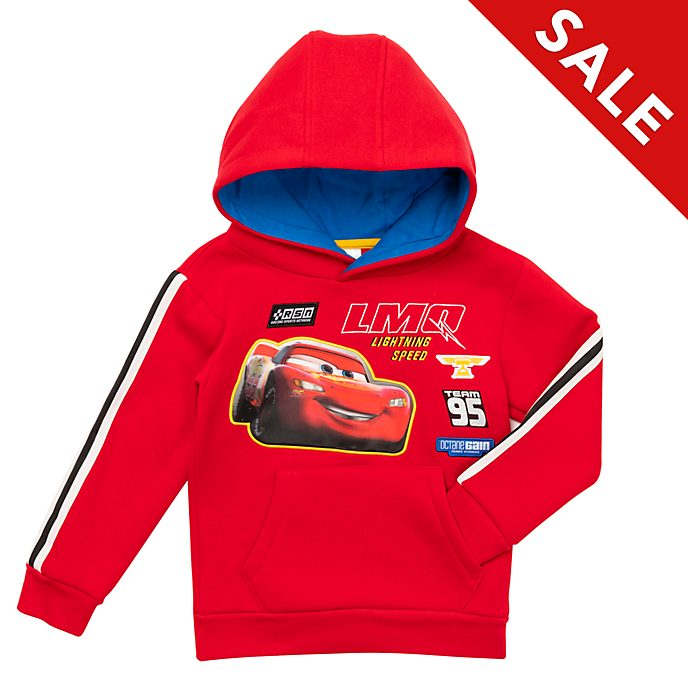 Disney Store Lightning McQueen Hooded Sweatshirt For Kids