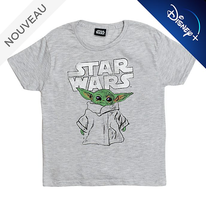 T-shirt L'Enfant version esquisse pour enfants, The Mandalorian