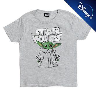 Camiseta infantil tipo boceto El Niño, Star Wars: The Mandalorian