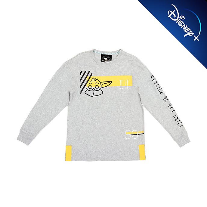 Disney Store Grogu Long Sleeved T-Shirt For Adults, Star Wars