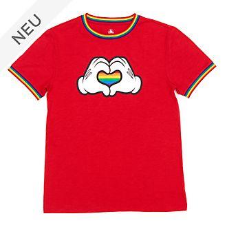 Disney Store - Micky Maus Regenbogenherz - Rainbow Disney - T-Shirt für Erwachsene