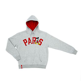 Disney Store Mickey Mouse Paris Hooded Sweatshirt for Adults