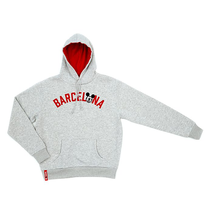 Disney Store Mickey Mouse Barcelona Hooded Sweatshirt for Adults