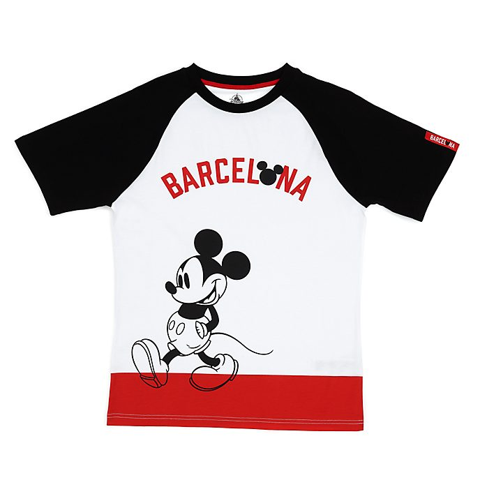 Disney Store T-shirt Mickey Barcelone pour adultes