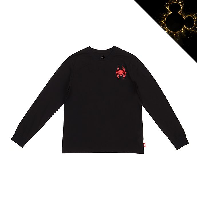 Disney Store Miles Morales Long Sleeved T-Shirt For Adults, Spider-Man