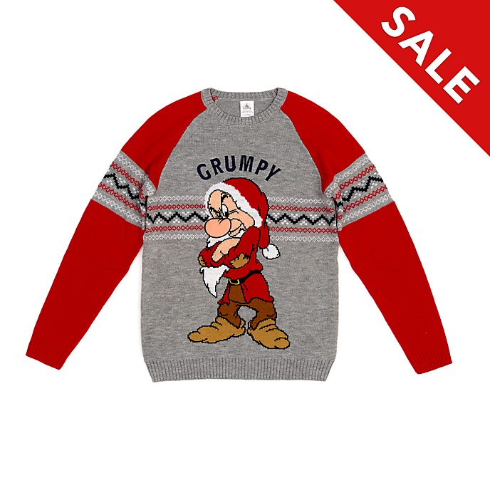 Disney Store Grumpy Christmas Jumper For Adults