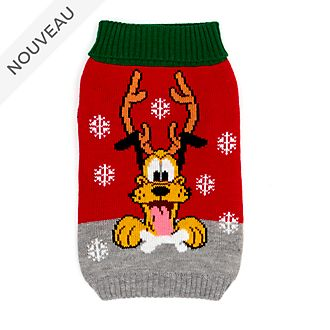 Disney Store Pull de Noël Pluto pour animaux, Holiday Cheer