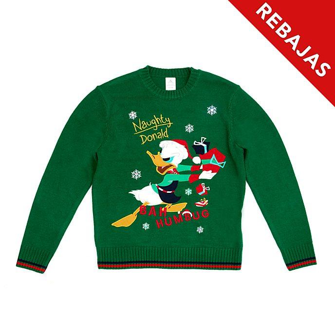 Jersey navideño con luz Pato Donald para adultos, Holiday Cheer, Disney Store