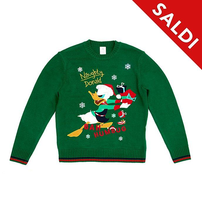 Maglione natalizio luminoso adulti Paperino Holiday Cheer Disney Store