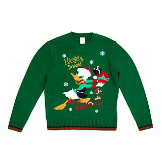 Disney Store Donald Duck Holiday Cheer Light-Up Christmas Jumper For Adults