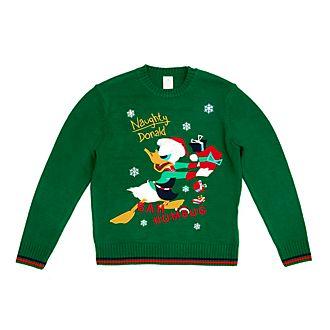 Disney Store - Holiday Cheer - Donald Duck - Leuchtender Weihnachtspullover für Erwachsene