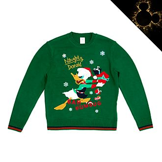 Maglione natalizio luminoso adulti Paperino Holiday Cheer Disney Store