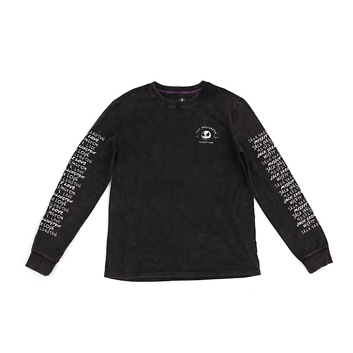 Disney Store Jack Skellington Long-Sleeved T-Shirt For Adults
