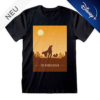 Star Wars: The Mandalorian - Retroposter-T-Shirt für Erwachsene